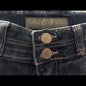 Rock & Republic Shorts - Rock & Republic Medium Wash Stretch Shorts Size 0